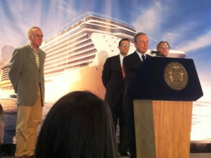 NCL Breakaway announcement with Mayor Bloomberg