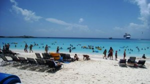 Carnival Pride calls on Half Moon Cay, Bahamas
