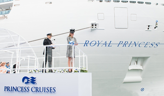 Royal Princess christened by Duchess of Cambridge