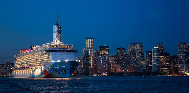 Norwegian Breakaway christened by the Rockettes