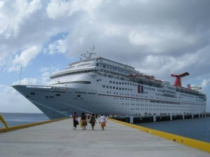 Carnival Fantasy docked in Cozumel