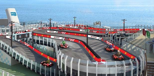 Norwegian Joy to feature Ferrari branded race track