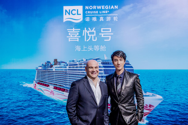 Norwegian Joy gets Chinese pop icon Wang Leehom as Godfather