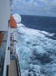 Rough seas on Day 7 of the Carnival Pride cruise