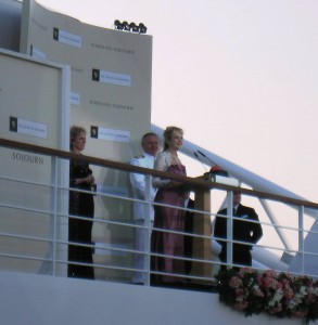 Twiggy is godmother to Seabourn Sojourn