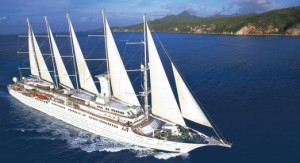 Windstar Cruises Wind Surf sails in the Caribbean used by ExpertCruiser courtesy of Windstar Cruises