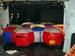 Inflatable laser tag arena on Carnival Valor